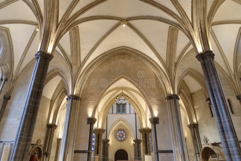 Świątynia, London, England: Świątynny kościół, Londyn obrazy royalty free