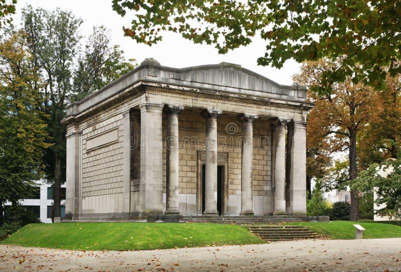 Świątynia Ludzkie pasje w Parc Du Cinquantenaire †'Jubelpark brussels Belgia fotografia stock