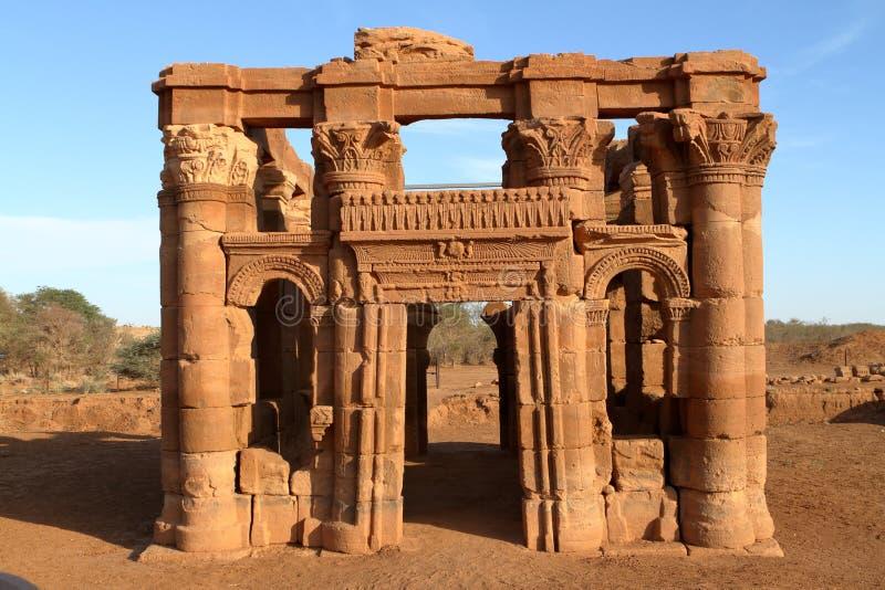 Świątynia Naga w Sahara Sudan obraz stock