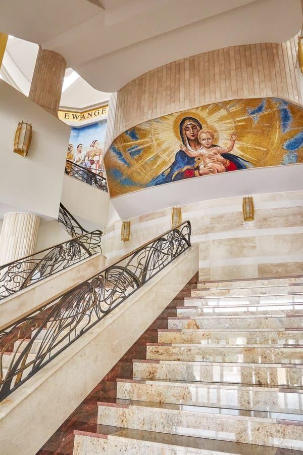 Świątynia Nasz dama gwiazda Nowy Evangelization John Paul II i St zdjęcie stock