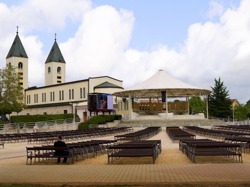 Świątynia Nasz dama przy Medjugorje w Bośnia, Herzegovina - fotografia royalty free