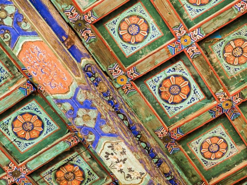 Świątynia niebo dachu ornament w szczególe, Pekin, Chiny, Azja obraz stock