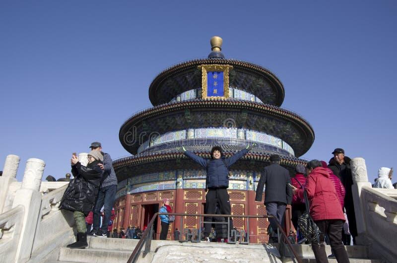 Świątynia niebo w wiośnie zdjęcie stock
