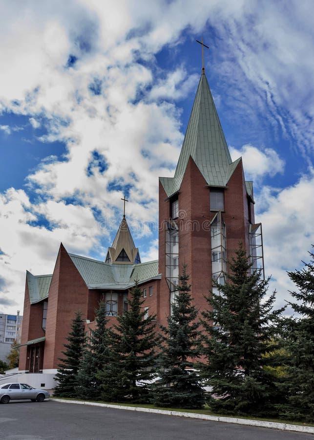Świątynia Niepokalany poczęcie Błogosławiony maryja dziewica, Chelyabinsk obraz royalty free