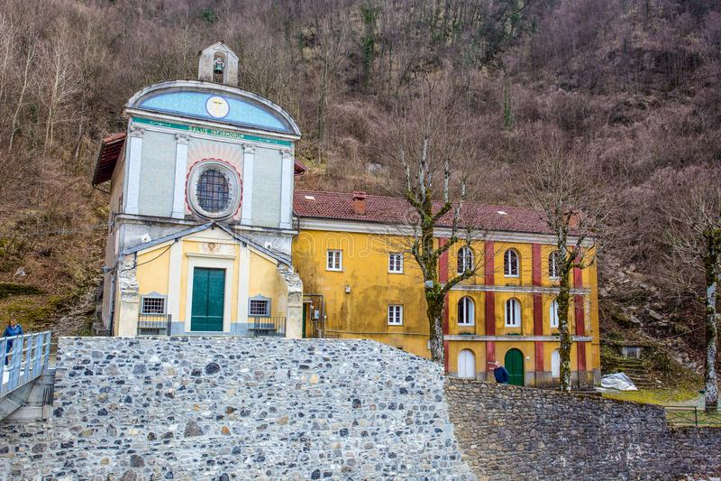 Świątynia ` Nostra Signora dell ` Acqua `, genua, Genova, prowincja, Valbrevenna, Liguria, Włochy fotografia royalty free