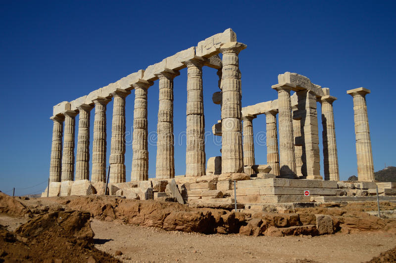 Świątynia Poseidon. zdjęcia royalty free