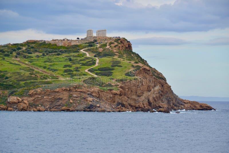 Świątynia Poseidon na przylądku Sounion w Grecja fotografia royalty free