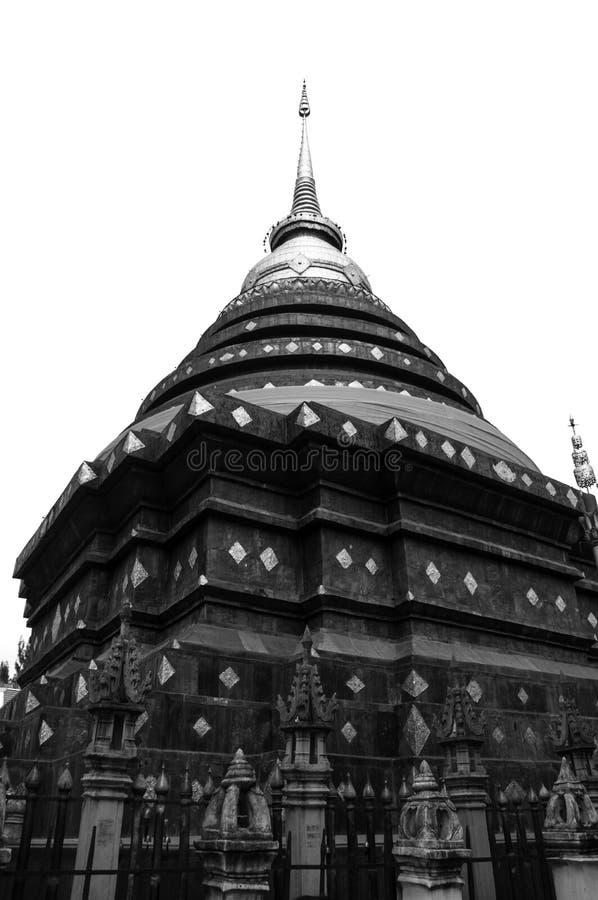Świątynia przy Lampang prowincją fotografia royalty free