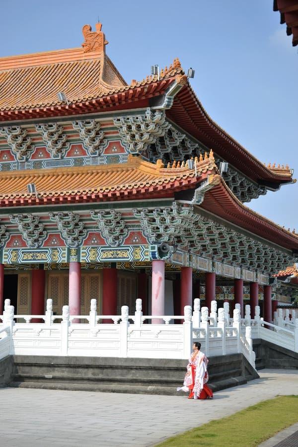 Świątynia przy Lianchihtan Lotosowym stawem w Kaohsiung, Tajwan zdjęcie stock