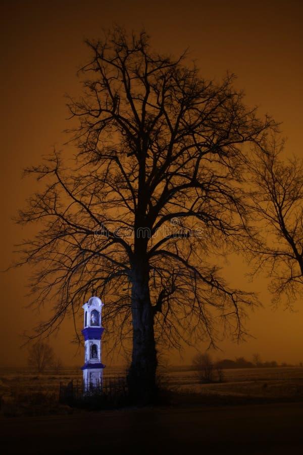 Świątynia przy nocą zdjęcia stock