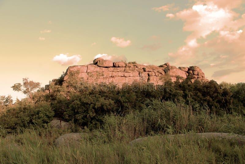Świątynia rockowy ` Monastyrysche ` zdjęcia stock