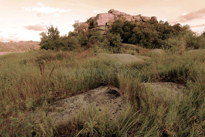 Świątynia rockowy ` Monastyrysche ` zdjęcie stock