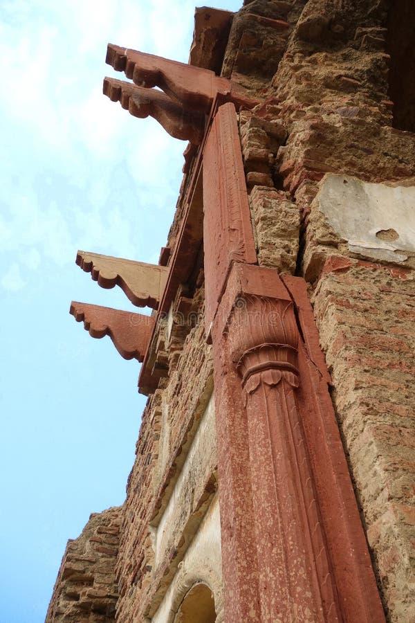 Świątynia Rujnuje filary fotografia stock