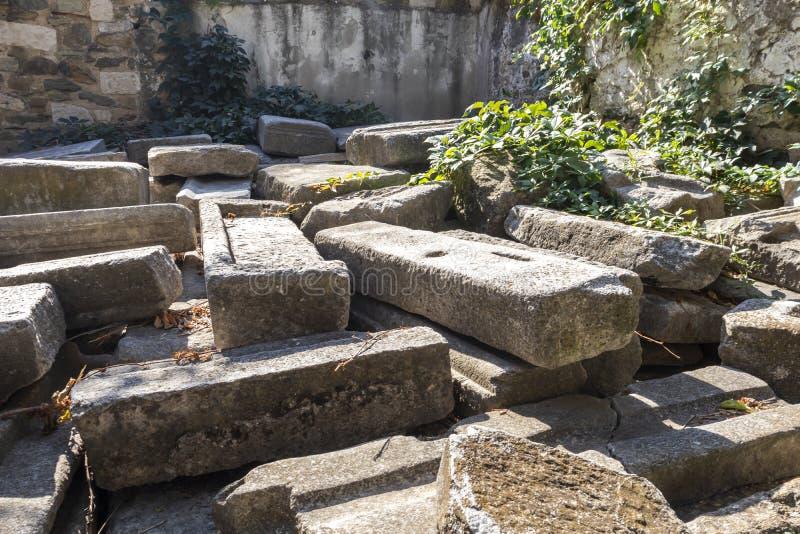 Świątynia Rzymska w Salonikach, Grecja zdjęcia royalty free