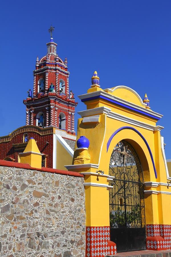 Świątynia Santa Maria tonantzintla IV zdjęcie royalty free