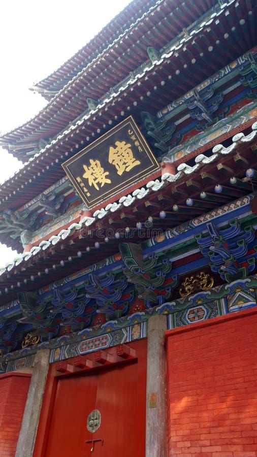 Świątynia Shaolin w Dengfeng, Zhengzhou, główna twarz Chin obraz royalty free