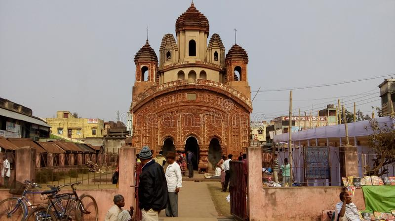 Świątynia Shree Jaydv padmavai w jaydev kendulia birbhul i dystrykt bankura west bengal india 02 obraz stock