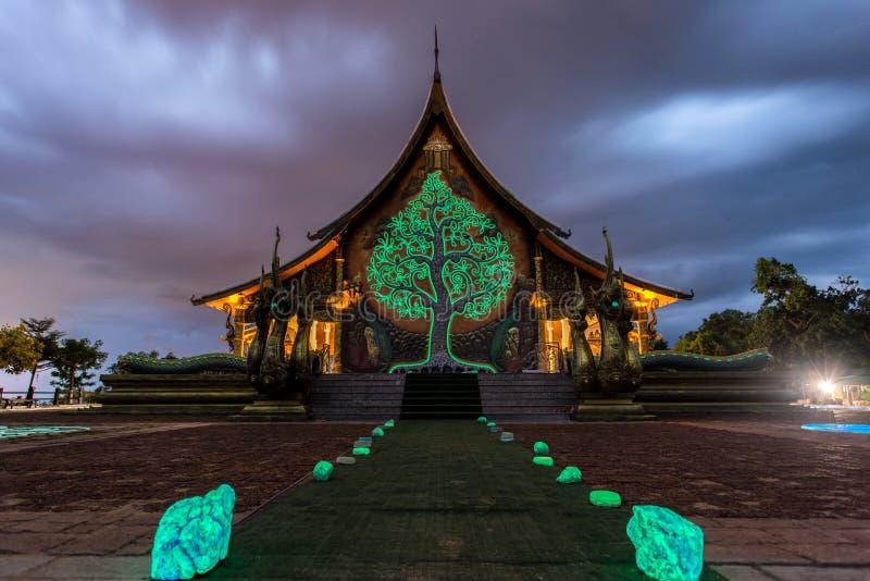 świątynia tajska Wat Phu Prao świątynia w Ubon Ratchathani prowinci, Tajlandia obraz stock