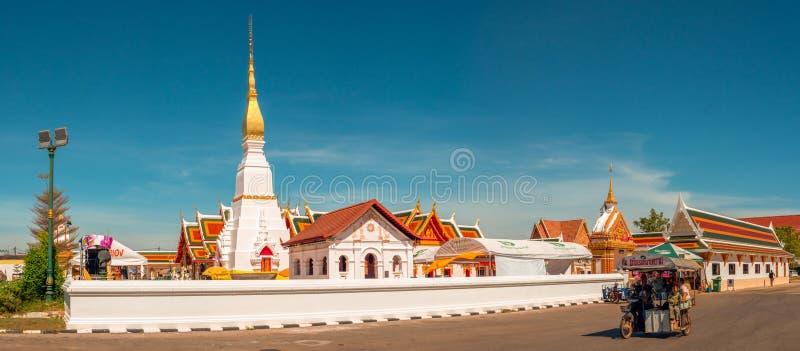 świątynia Thailand Wat Phra Który Choeng kmotr, Sakon nakhon fotografia stock