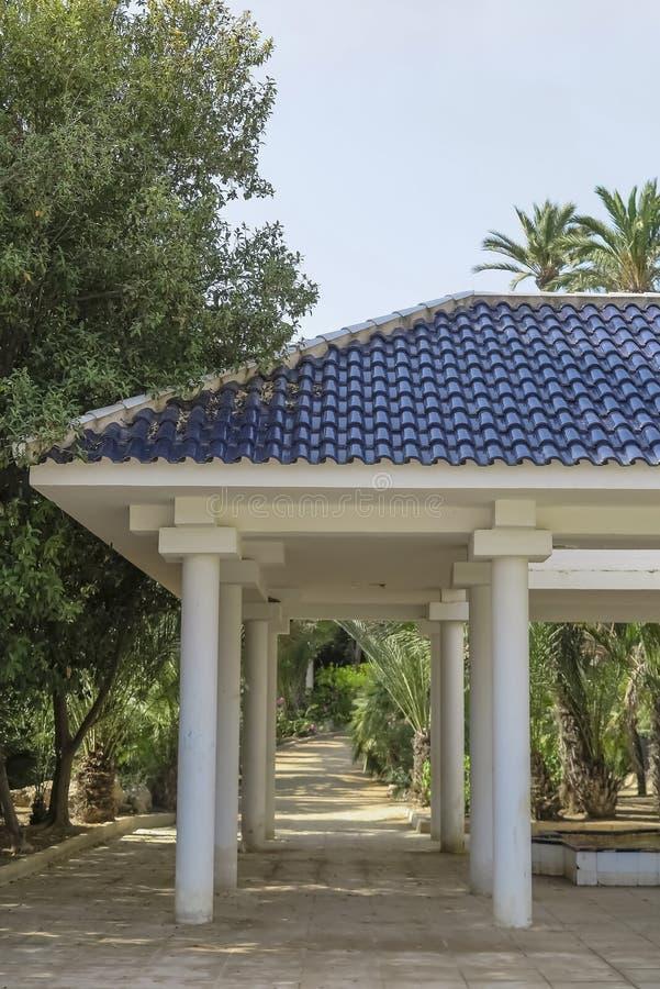 Świątynia w El palmeral parku obrazy stock