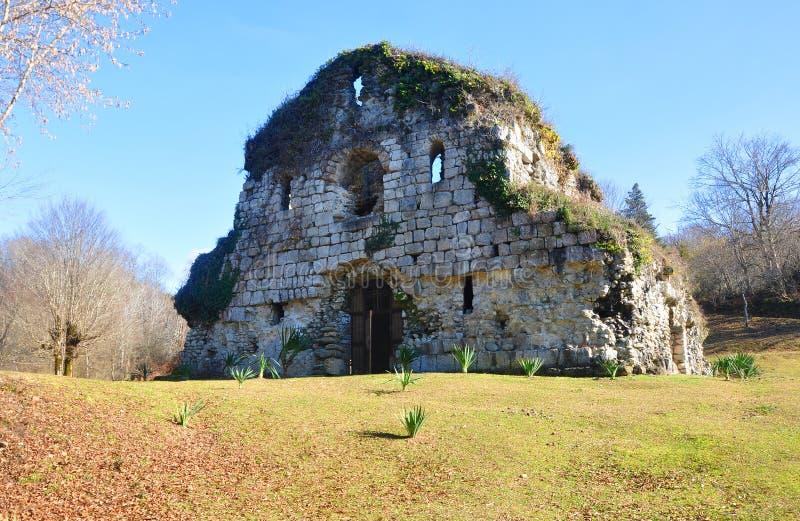 Świątynia w miejscu Musser w Abkhazia fotografia stock
