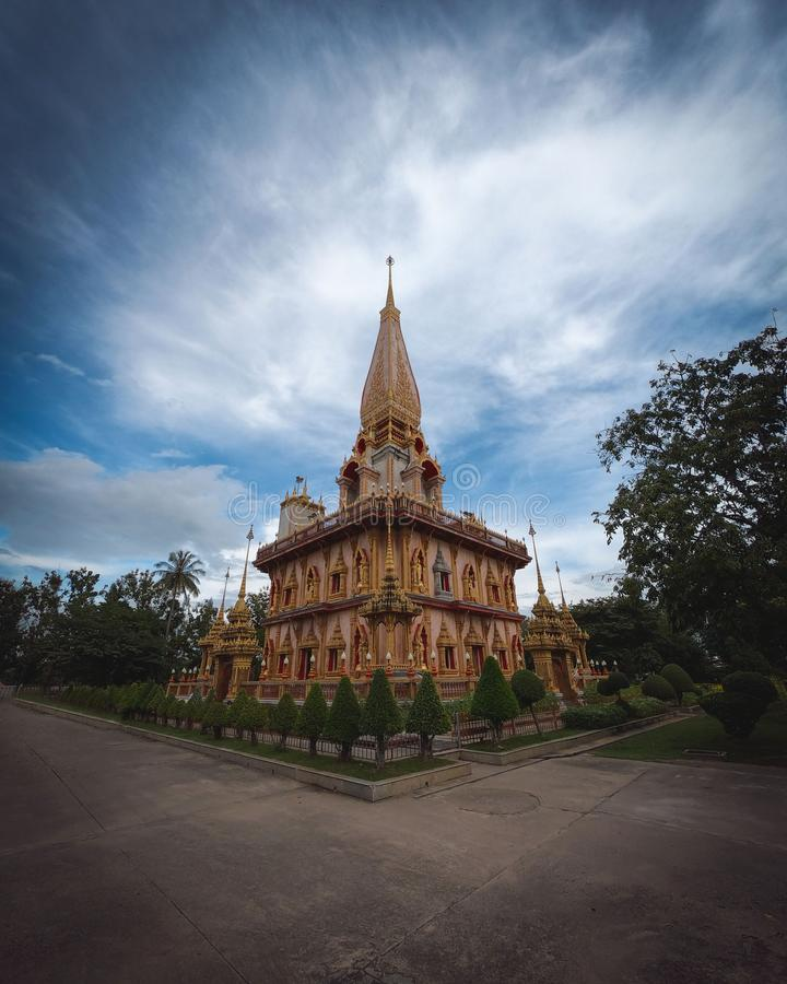 Świątynia Wat Chalong W Podokręgu Chalong, Mueang Phuket fotografia royalty free