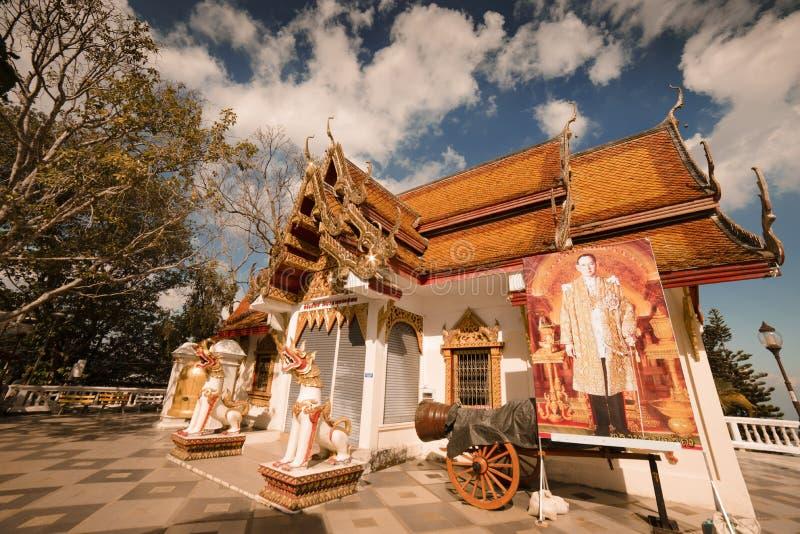 Świątynia Wat Doi Inthanon w Chiang Mai, Tajlandia Grudzień 2016 fotografia royalty free