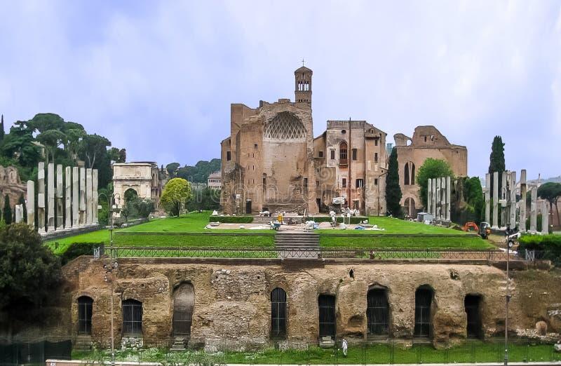 Świątynia Wenus & Roma rzymianina forum zdjęcie royalty free