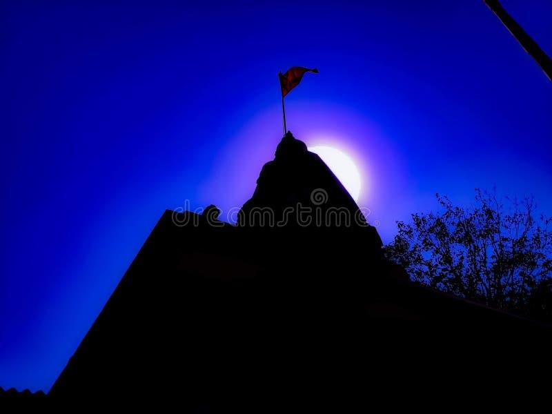 Świątynia z księżyc fotografia royalty free
