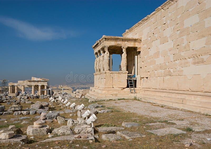 Świątynie akropol zdjęcia royalty free