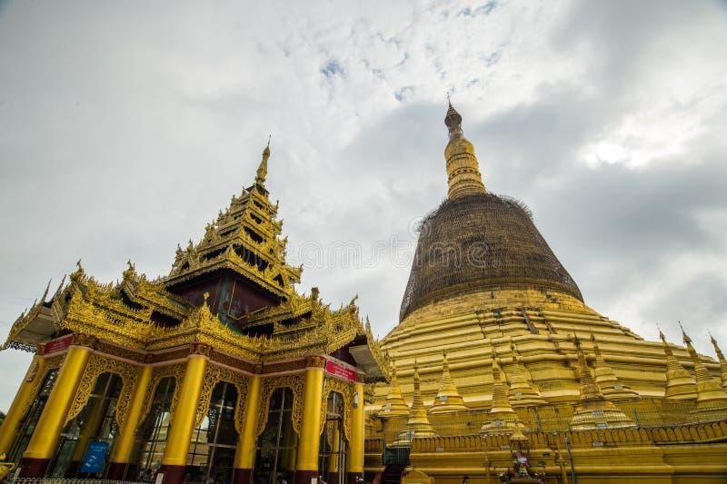 Świątynie bagan przy wschodem słońca, Bagan, Myanmar fotografia stock