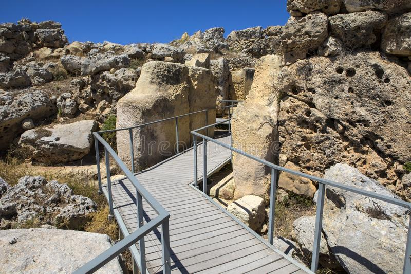 Świątynie Ggantija na wyspie Gozo zdjęcia stock