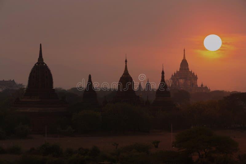 Świątynie Mandalay Bagan, Myanmar, Birma (poganin) zdjęcia stock
