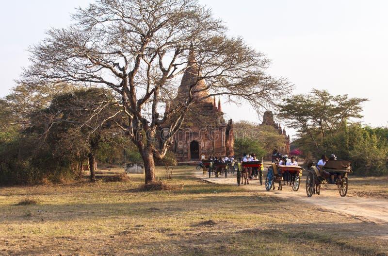 Świątynie w Bagan, Myanmar fotografia stock
