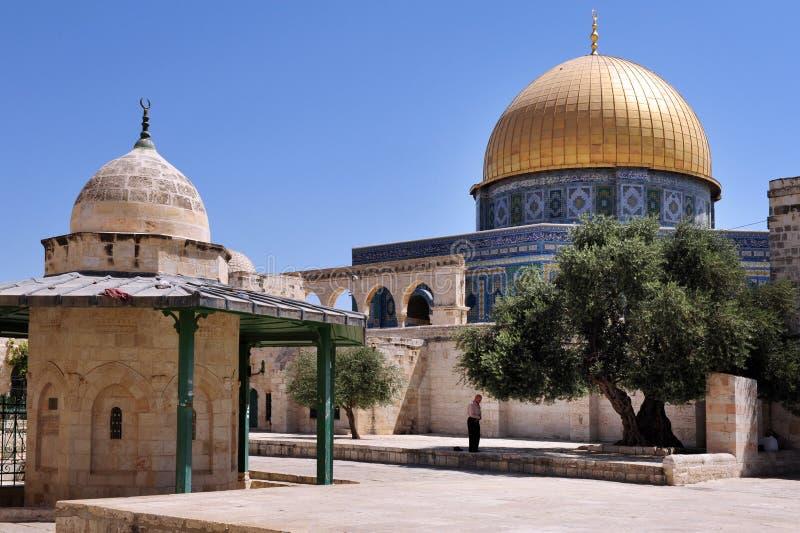 Świątynna góra i Aksa meczet w Jerozolimski Izrael zdjęcie stock