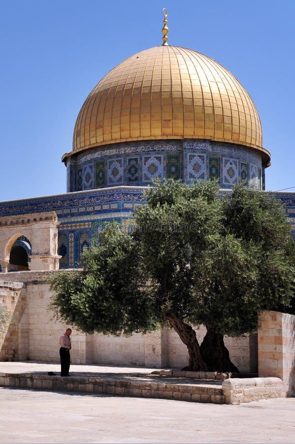 Świątynna góra i Aksa meczet w Jerozolimski Izrael fotografia royalty free