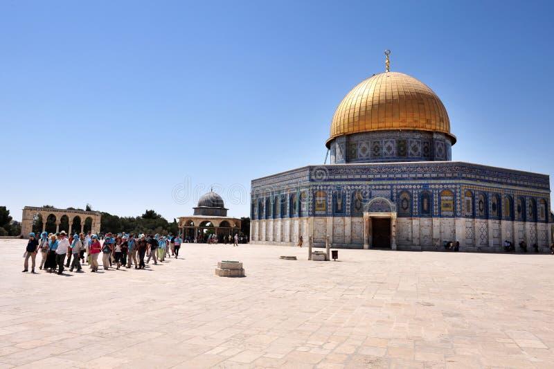 Świątynna góra i kopuła skała w Jerozolimski Izrael zdjęcie stock