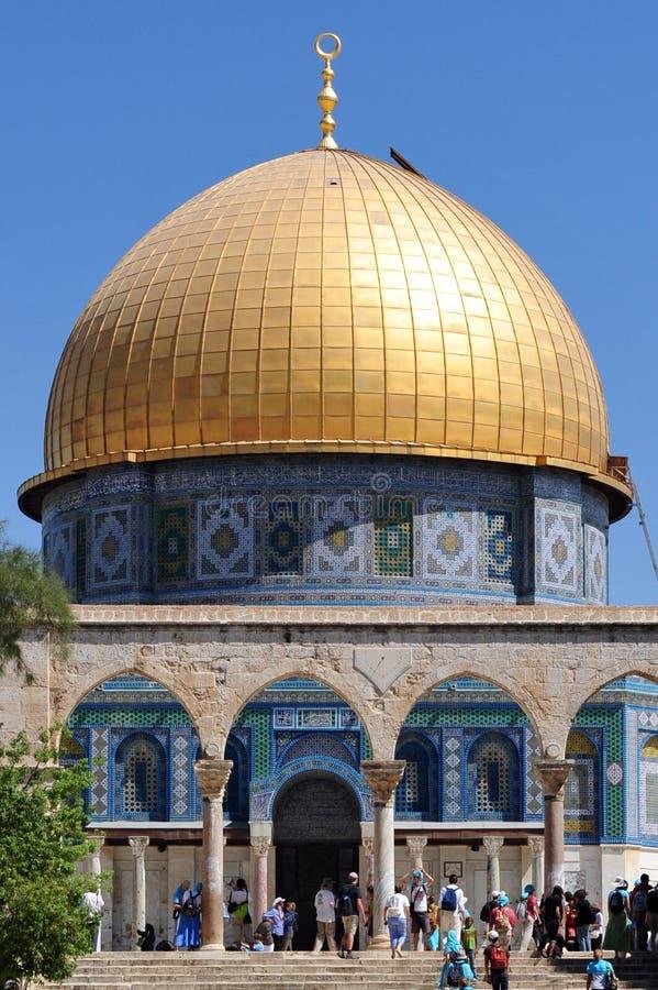 Świątynna góra i kopuła skała w Jerozolimski Izrael obraz stock