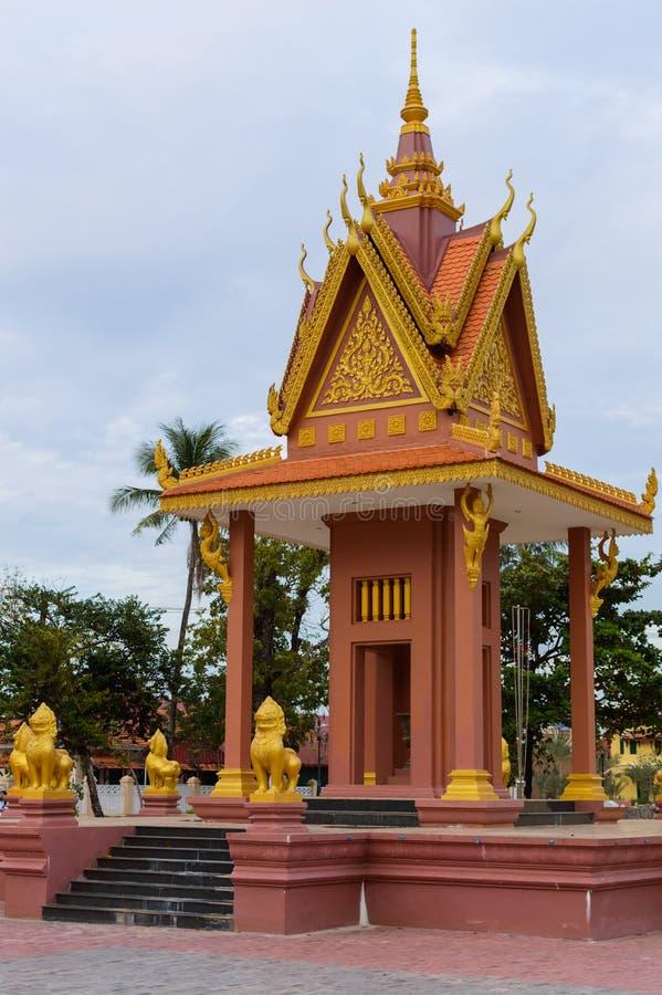 Świątynna pagoda w Kampot, Kambodża obraz royalty free