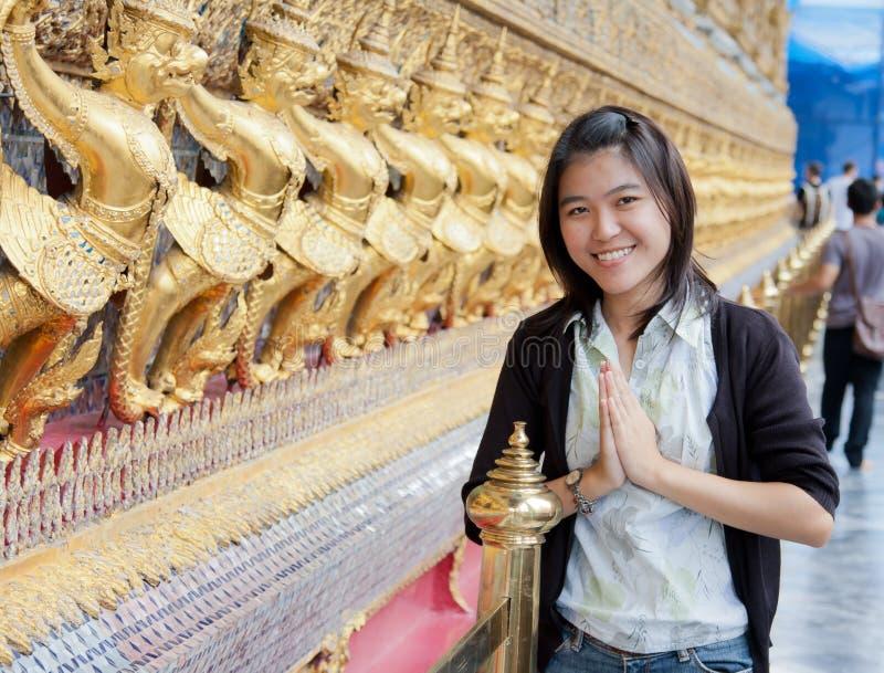 świątynna tajlandzka kobieta zdjęcia stock