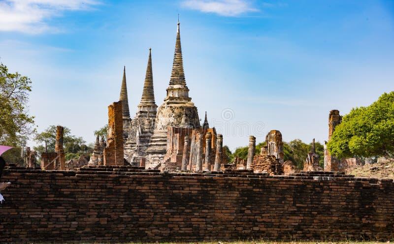 Świątynne ruiny, Ayutthaya obrazy royalty free