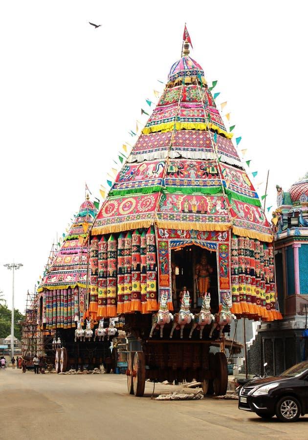 Świątynni festiwali/lów rathas zdjęcia stock