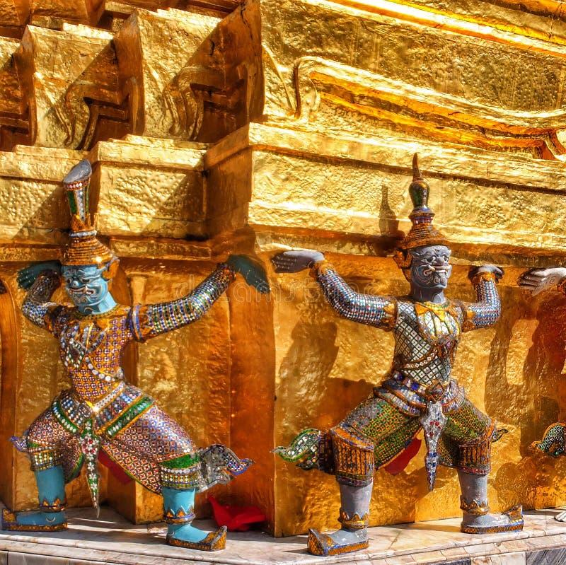 Świątynni opiekuny zdjęcia royalty free