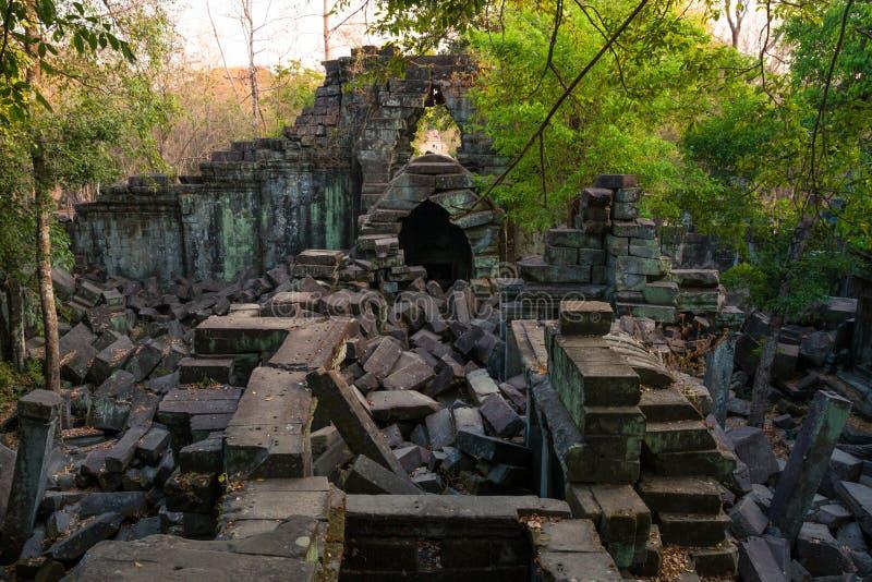 Świątynny Beng Mealea, Angkor Wat, Kambodża obrazy royalty free