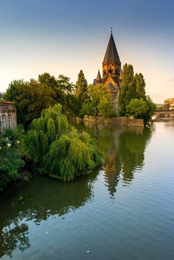 Świątynny Neuf, Metz Francja fotografia royalty free