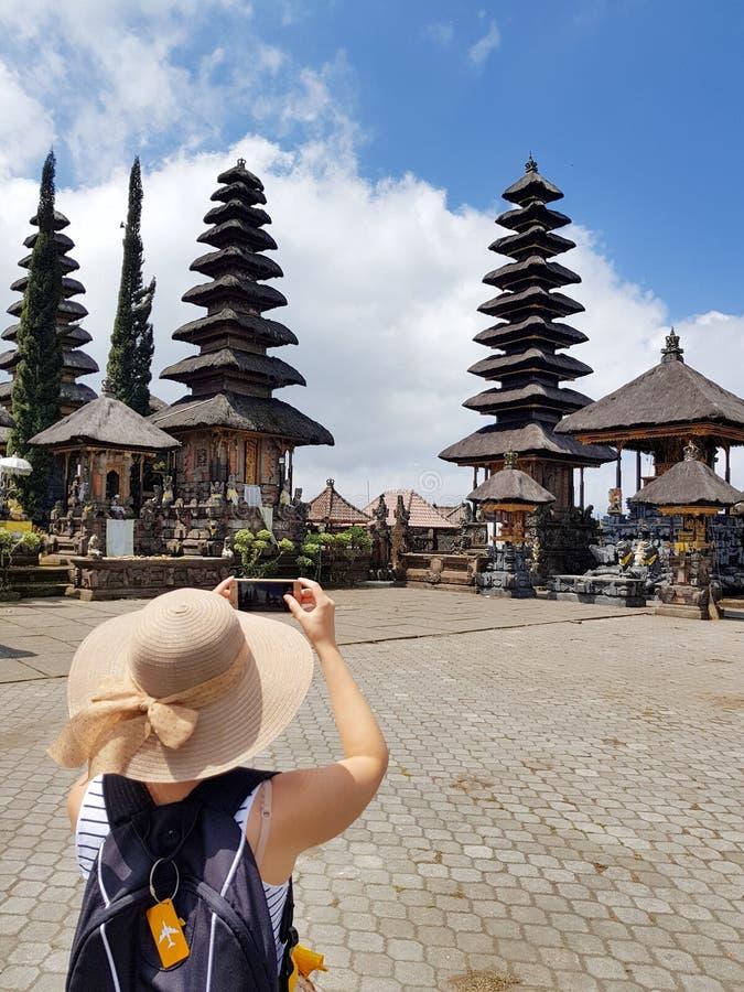 Świątynny Ulundanu Batur w Kintamani terenie zdjęcie stock