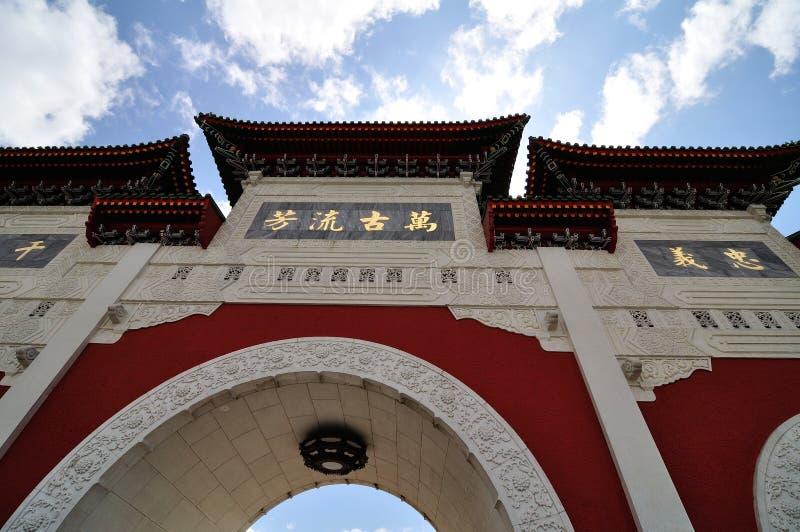 Świątynny Wejściowy wysoki mur obraz royalty free