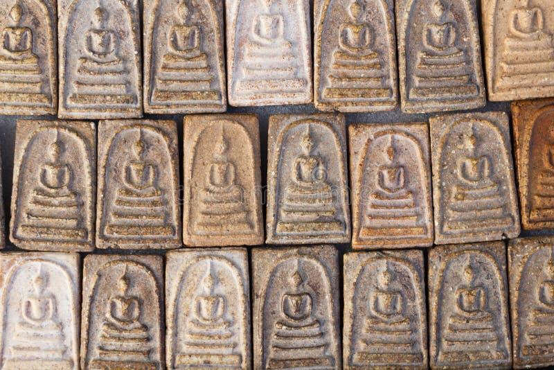 Święci buddyjscy glina przedmioty fotografia royalty free
