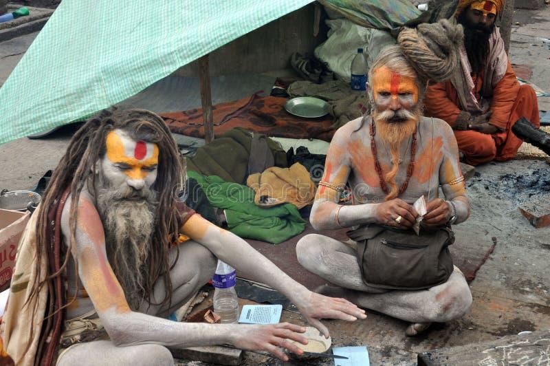 święci ind obsługują sadhu fotografia stock