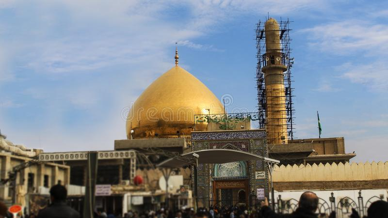 Święta świątynia imama Ali UN Naqi obrazy royalty free